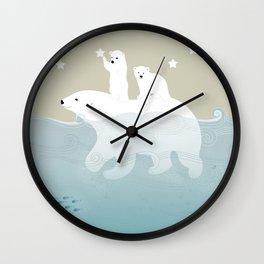 Swimming Wall Clock