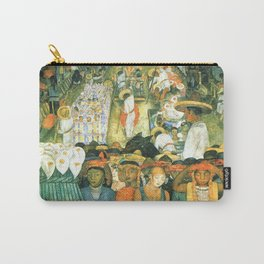 Diego Rivera Friday of Sorrows on the Canal Santa Anita, Mexico with Calla lilies landscape painting Carry-All Pouch