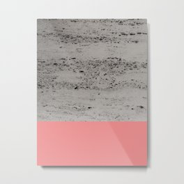 Light Coral on Concrete #2 #decor #art #society6 Metal Print