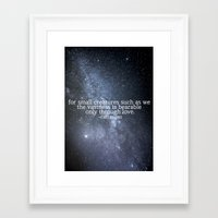 carl sagan Framed Art Prints featuring Carl Sagan and the Milky Way by Astrophotos by McLeod