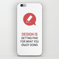 philosophy iPhone & iPod Skins featuring DESIGN PHILOSOPHY #1 by mJdesign