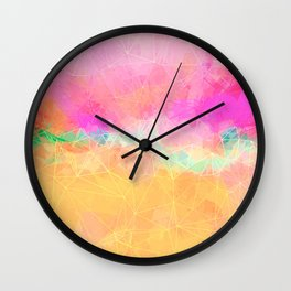 Modern Pastel Rainbow Cascade Abstract Wall Clock