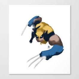 Wolverine minimalist Splash Poster Canvas Print