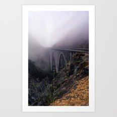 Bridge in Fog Art Print