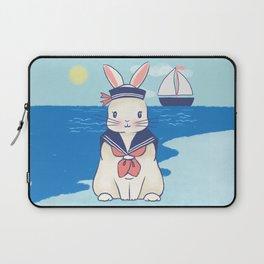 Sailor Bunny At The Beach Laptop Sleeve
