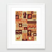 risa rodil Framed Art Prints featuring Accio Items by Risa Rodil