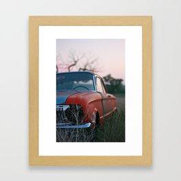 old car. Framed Art Print