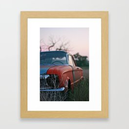 old car. Framed Art Print
