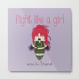 Fight Like a Girl - The King of Fighters' Orochi Leona Metal Print