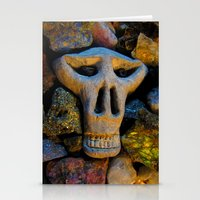 minerals Stationery Cards featuring skull and minerals by giol's