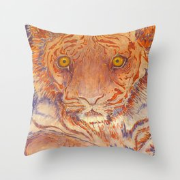 Braveheart - Handpainted Silk Tigercup Throw Pillow