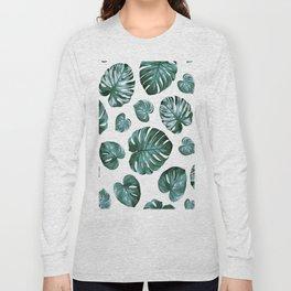 Monstera Philodendron Split Leaves Long Sleeve T-shirt