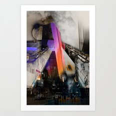 Meet me in my smooth city Art Print