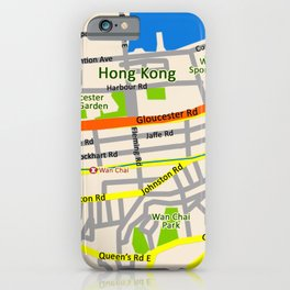 Hong Kong Map design iPhone Case