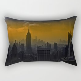 New York red Rectangular Pillow