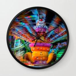 Cray Cray crazy fun at the carnival Wall Clock