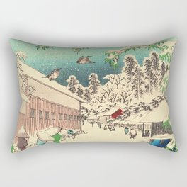Atagoshita and Yabu Lane - Japanese Woodblock Rectangular Pillow