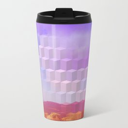Ultra Surreal Countryside Violet Rainbow Travel Mug