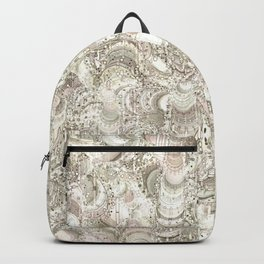 Abstract graphic pattern by Leslie Harlow Backpack