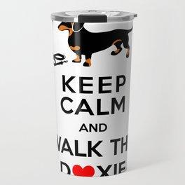 Walk the Doxie Travel Mug