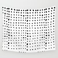 dots Wall Tapestries featuring Dots by Geryes