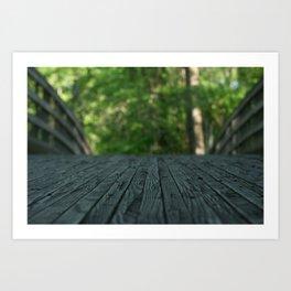 a walk in nature Art Print
