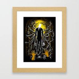 Slender Man Framed Art Print