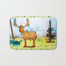 Blue Moose on the Loose ~Ginkelmier Bath Mat