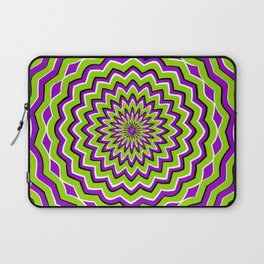 Optical Illusion moving pattern Laptop Sleeve