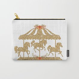 Glitter Carousel Carry-All Pouch