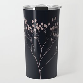 Dried meadow flower in blue and pastel pink Travel Mug