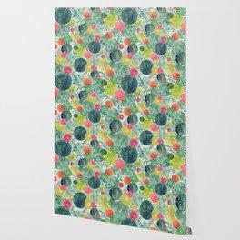 Succulent Circles Wallpaper