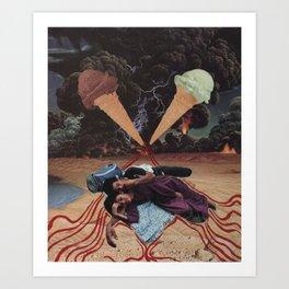 ice cream storm Art Print