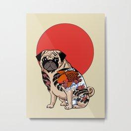 Yakuza Pug Metal Print