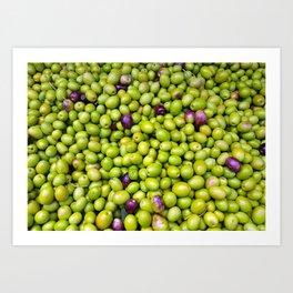 Green Olives pattern Art Print