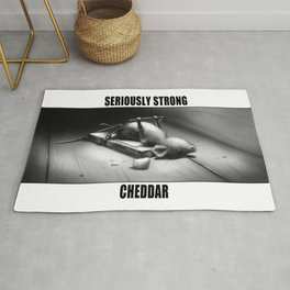 Seriously Strong Cheddar by dana alfonso Rug