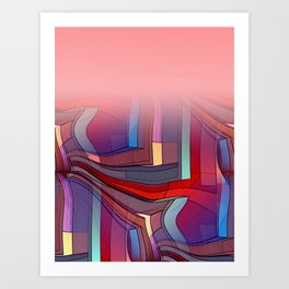 colormix -3- curtain and more Art Print