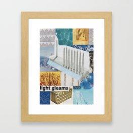 Chanukah Card - Light Gleams Framed Art Print