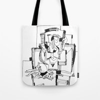 fifth element Tote Bags featuring The Fifth by 5wingerone