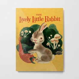 The Lively Little Rabbit Metal Print
