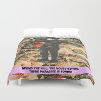 thrones Duvet Covers featuring There, paradise is found! by Laura Nadeszhda