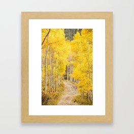 Yellow Road Framed Art Print