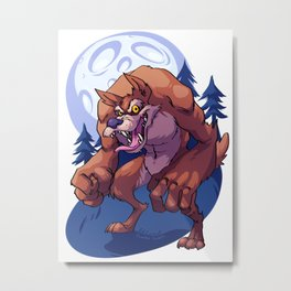 Werewolf Metal Print
