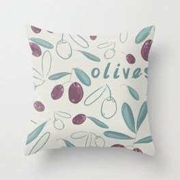 OLIVES Throw Pillow