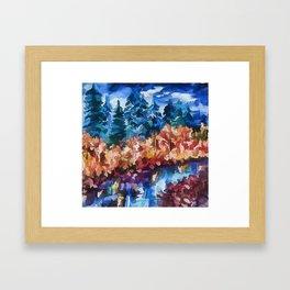 Fall in Rockies Framed Art Print