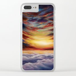 Between two worlds Clear iPhone Case