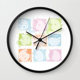 Cat Blobs Wall Clock