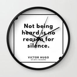 12   Victor Hugo Quotes   190830 Wall Clock
