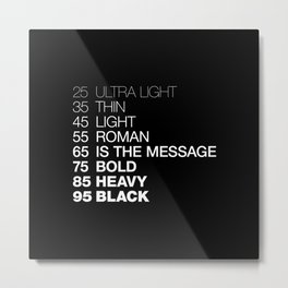 The Medium Is The Message Metal Print