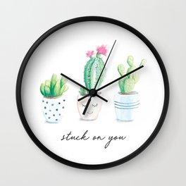 Stuck on You Wall Clock